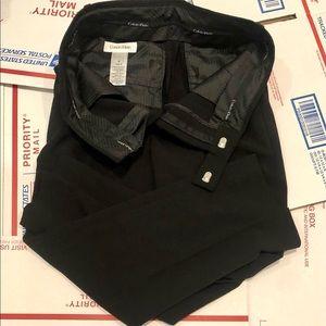Calvin Klein Boy 8 Black Dress Pants Slacks Formal